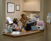 photo of reception desk at Pioneer Valley Plastic Surgery in Springfield, MA
